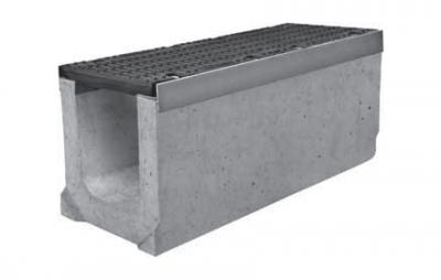 Лоток водоотводный ЛВ-30.40.41 с чугунной решеткой ВЧ