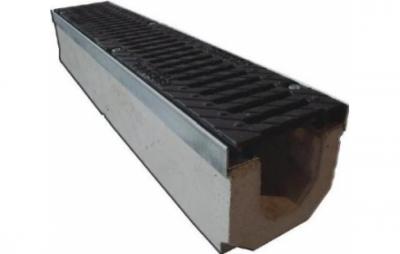 Лоток водоотводный ЛВ-15.25.31 с чугунной решеткой