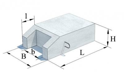Блок упора бетонный Б-9