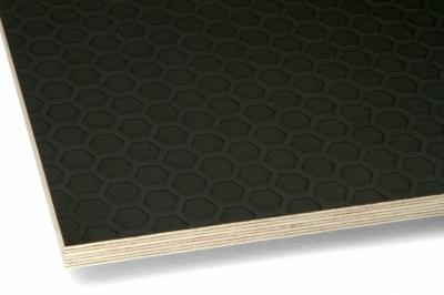 Фанера ламинированная транспортная 9х1250х2500 F/W Heksa d.br./black